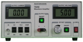 This battery simulator power supply is for testing charger circuits by varying the TS250 DC Offset voltage.
