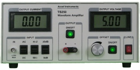 TS250 high voltage amplifier is for amplifying waveform generators and driving high current loads.