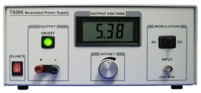 TS200 Modulation Power Supply can be parallel connected to output very high current.